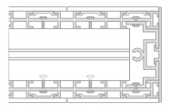 Modular box rail profile rail detail